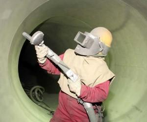 water tank sandblasting